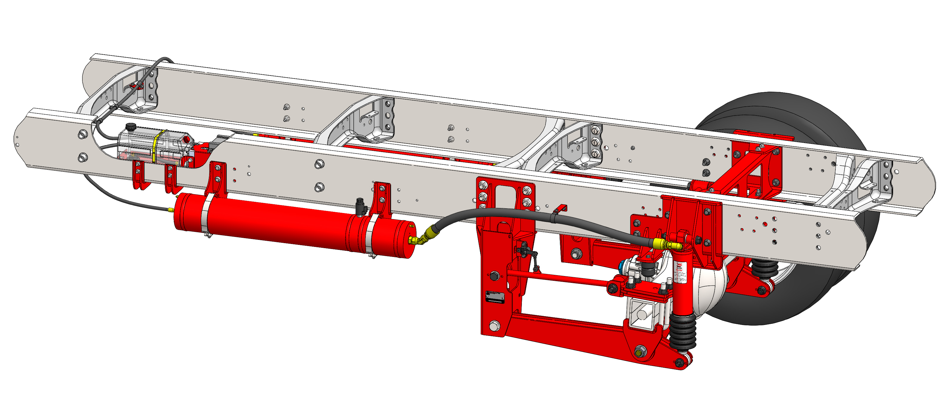F-650 Straight Rail Suspension System for emergency vehicles.