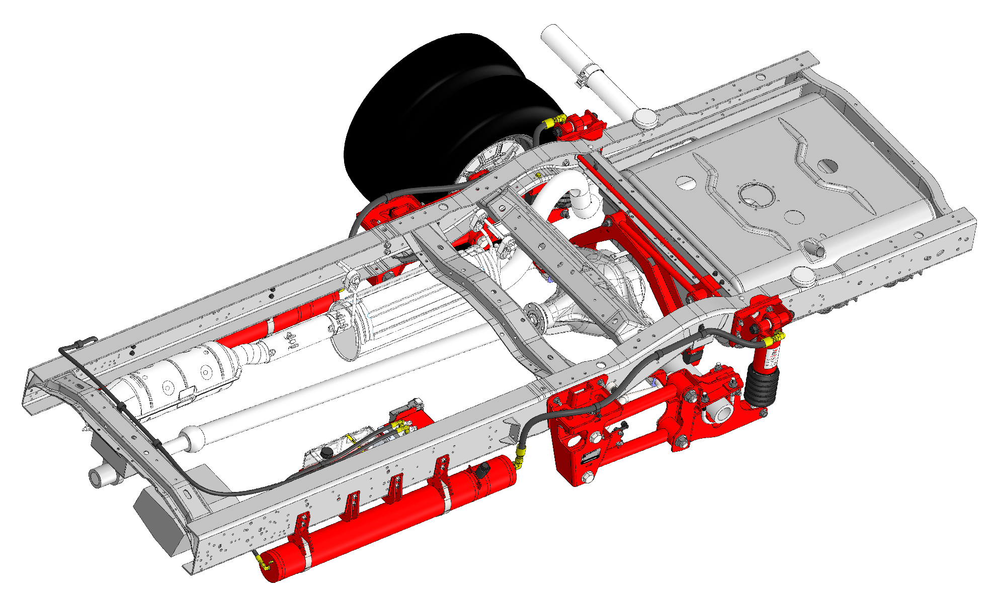 Ford E-350 Suspension System for buses vehicles.