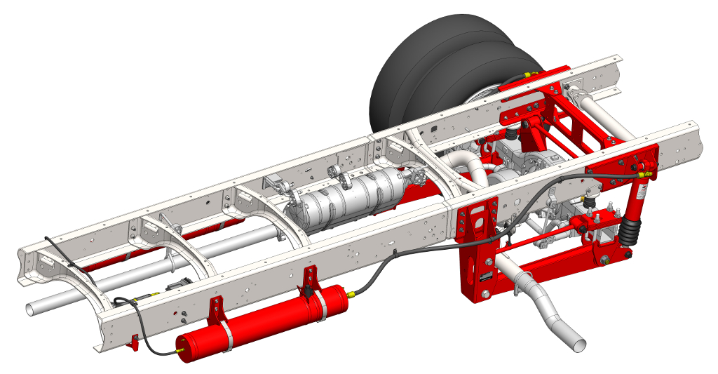 Ford F-53 bus suspension systems for a smoother ride.