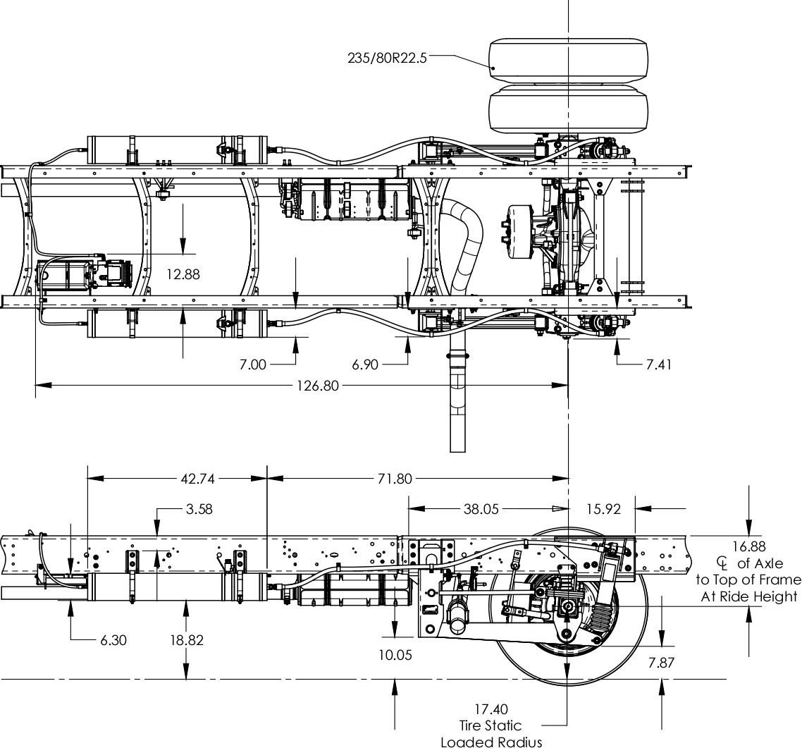Ford F-53 Suspension Schematics